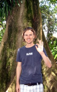 Johannes enjoying a tour on medicinal plants on Hawaii